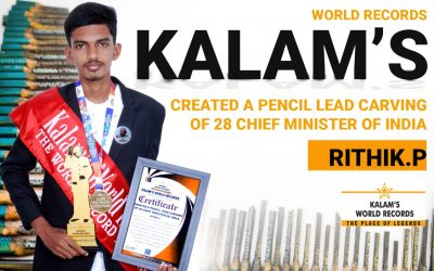 Created a Pencil Lead Carving of 28 Chief Minister of India
