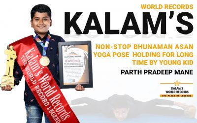 Non-stop Bhunaman Asan Yoga Pose  Holding for Long Time by Young Kid