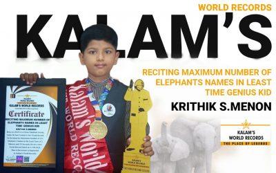 Reciting Maximum Number of Elephants Names in the Least Time Genius Kid