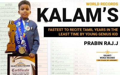 FASTEST TO RECITE TAMIL YEARS IN THE LEAST TIME BY YOUNG GENIUS KID