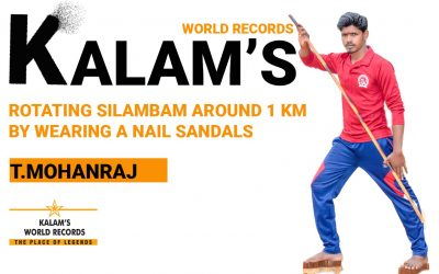 Rotating Silambam Around 1 Km by Wearing a Nail Sandals