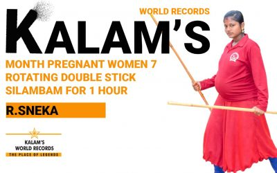 7 Month Pregnant Women Rotating  Double Stick Silambam for 1 Hour