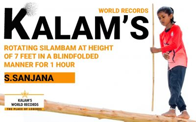Rotating Silambam Constantly at a Height of 7 Feet for 1 Hour