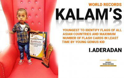 Youngest to Identify Flags of All Asian Countries and Maximum Number of Flash Cards in Least Time by Young Genius Kid